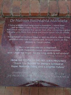 Nelson Mandela- Memorial Stone