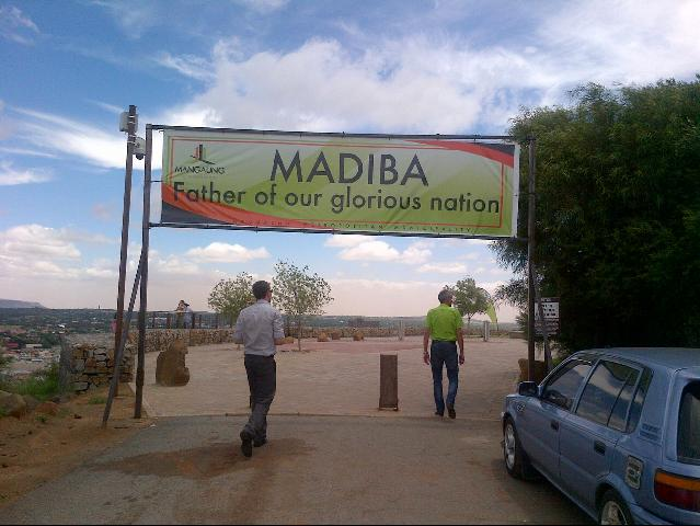 Entrance to Madiba statue