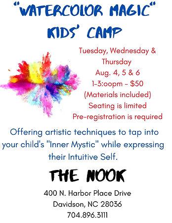 August 2020 Watercolor Magic Kids' Camp.