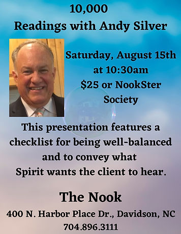 August 2020 10,000 readings with Andy Si