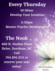 August 2020 Thursday Psychic Development