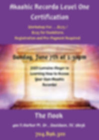 May 2020 Akashic Records Level One Certi