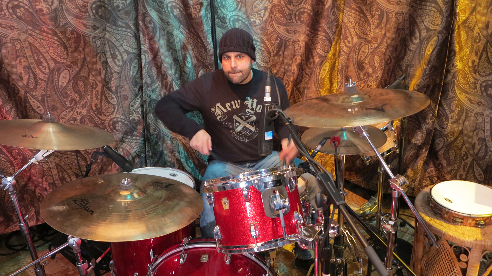 Joey on Drums