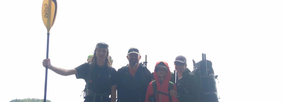 Packraft Adventure Family team