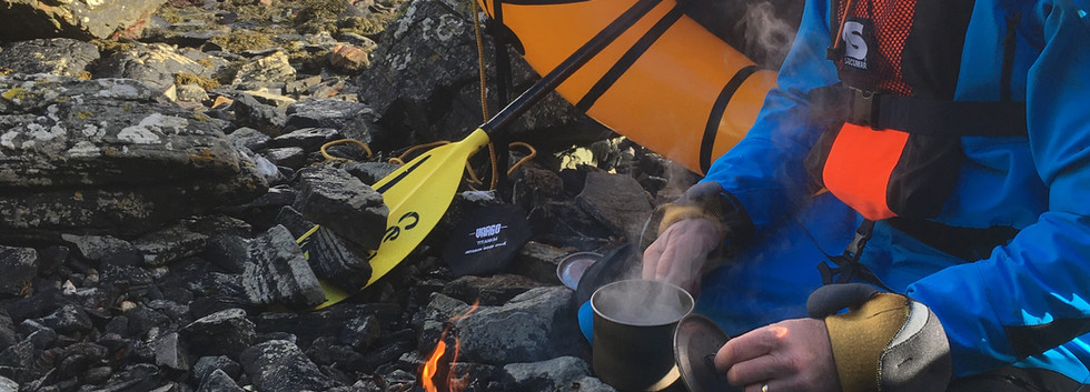 Packraft Adventure Jason brew stop