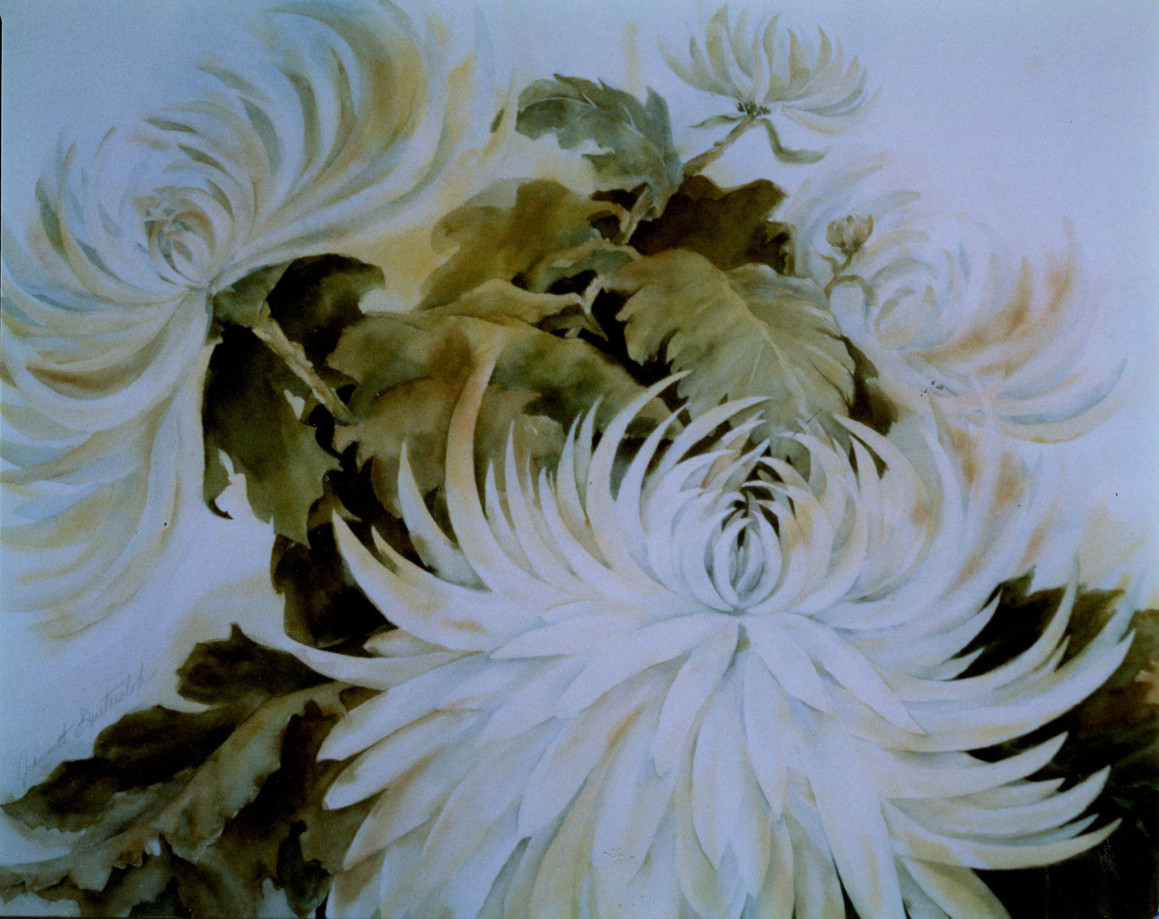 sample commission.Chrysanthemum.watercol