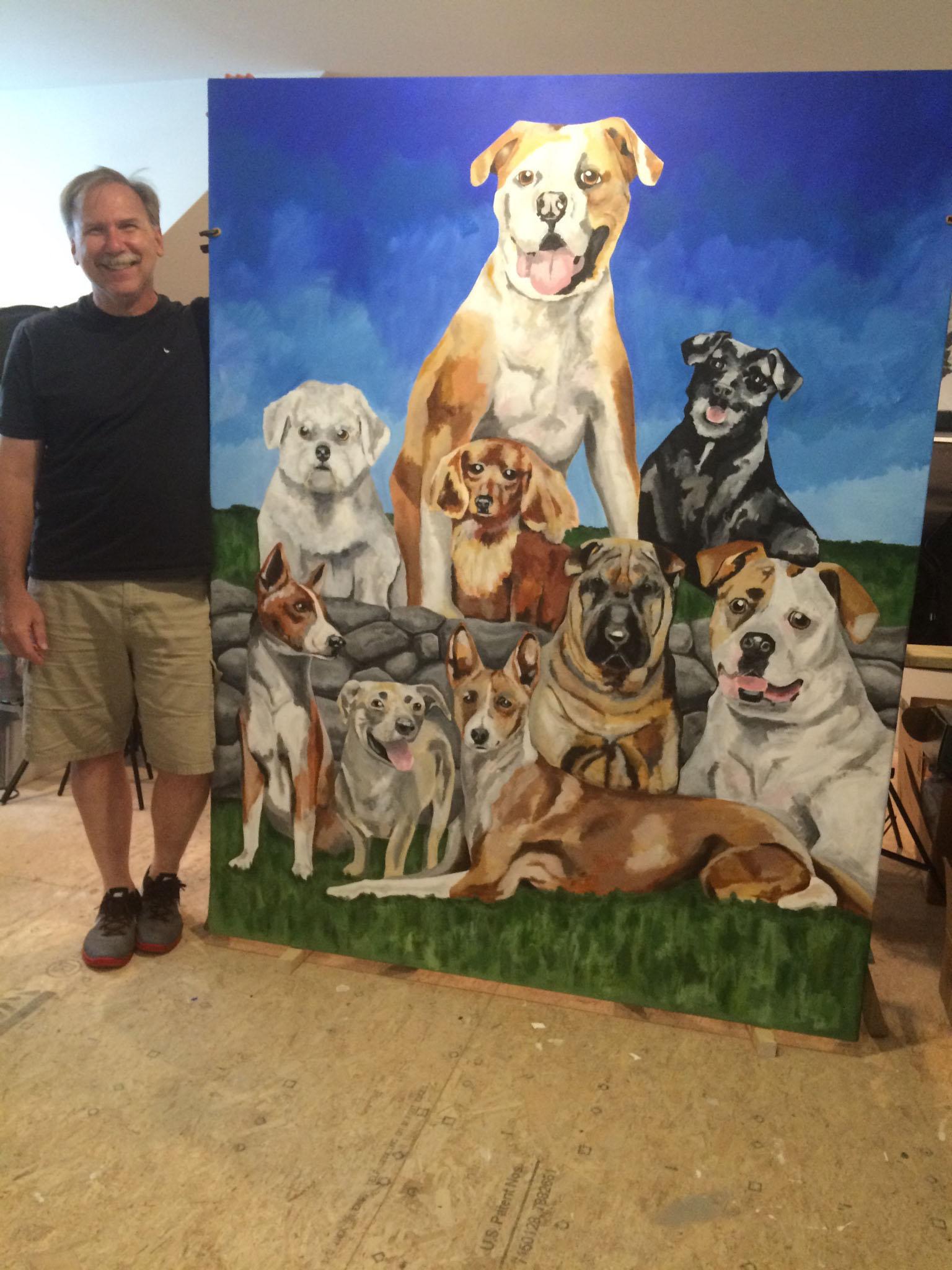 Nine Dogs