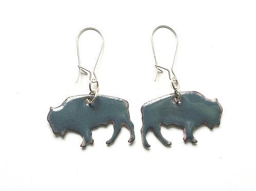 Grey Bison  Earrings