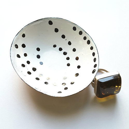 Black and White Dot Dish
