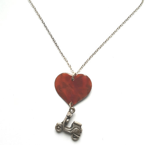 Scooter Heart Necklace