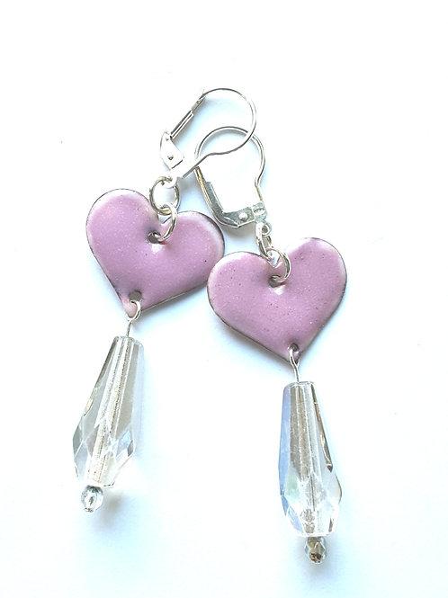 Hearts and Chandelier Earrings