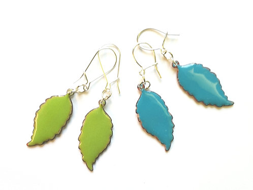 Spring Feather Earrings