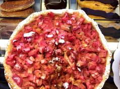 tarte à la rhubarbe fraîche