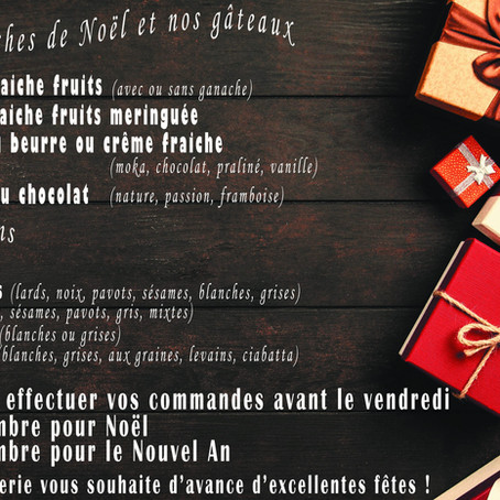 Nos propositions pour passer des fêtes gourmandes !