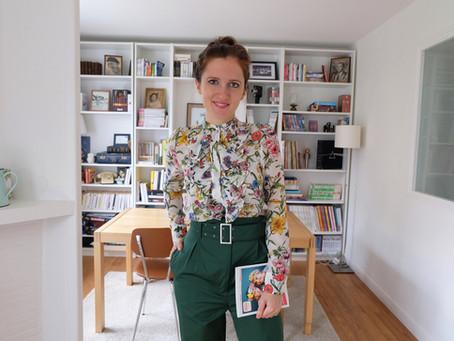Un look en fleurs H&M et le livre de Boobs & Zegang