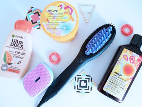 Routine cheveux et test de la brosse lissante DAFNI go