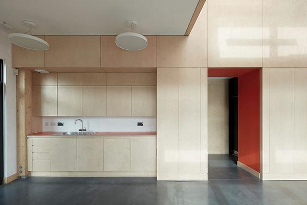Cryer & Coe, Rawlings Bristol, interior plywood, Glulam exposed, Warmley