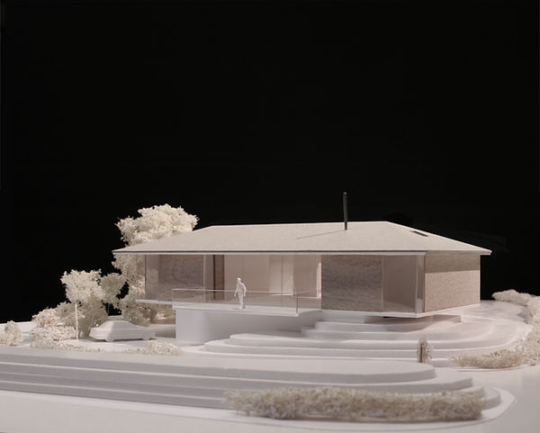 Southampton, modern house, modern bungalow, architecture model, pool, timber cladding,