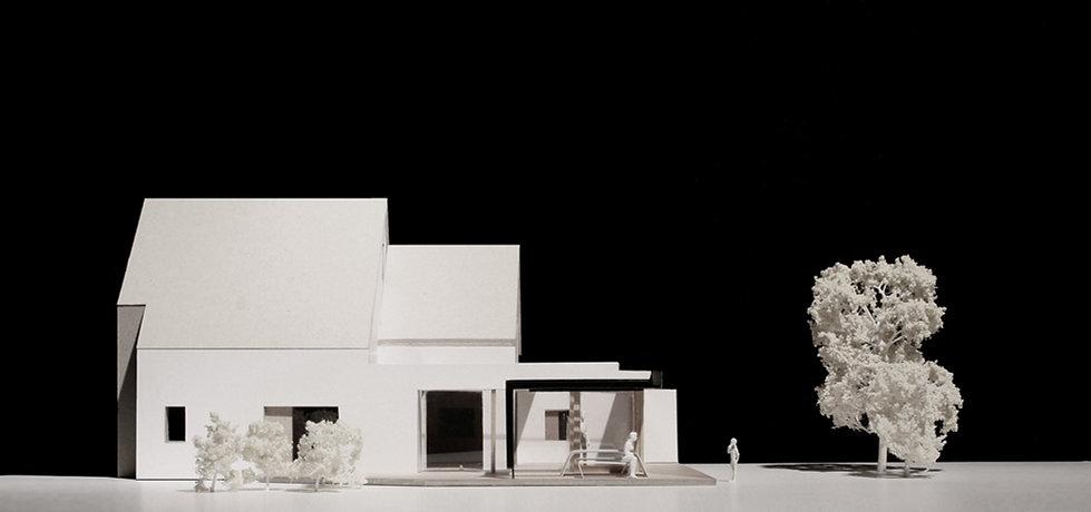 Rear extension, new build house, open plan kichen / dining, steel canopy, composite doors, slidin doors