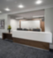 St Jame's Place Wealth Management, Cheltenham, office fit out, marble, black american walnut, glass, black leather