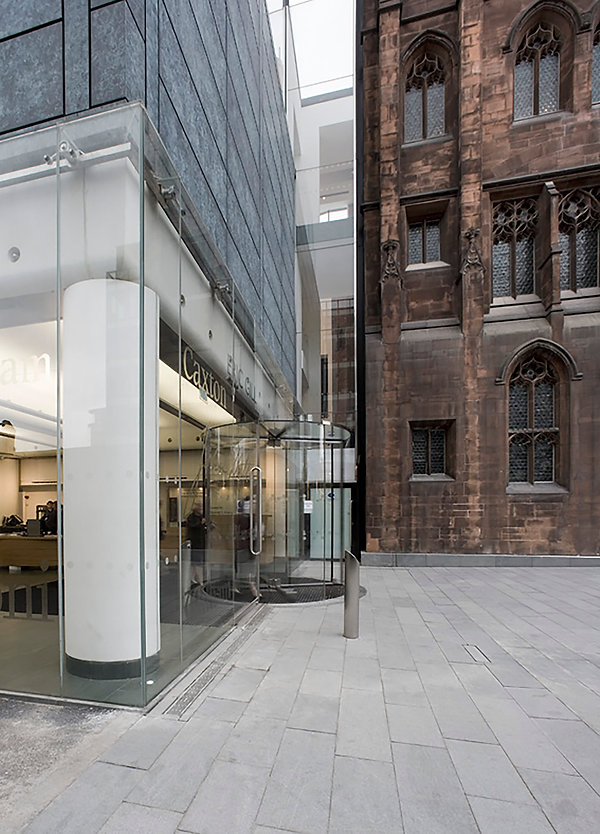 John Rylands Library, ASL, new library extension, glass, marble, stone, oak panelling