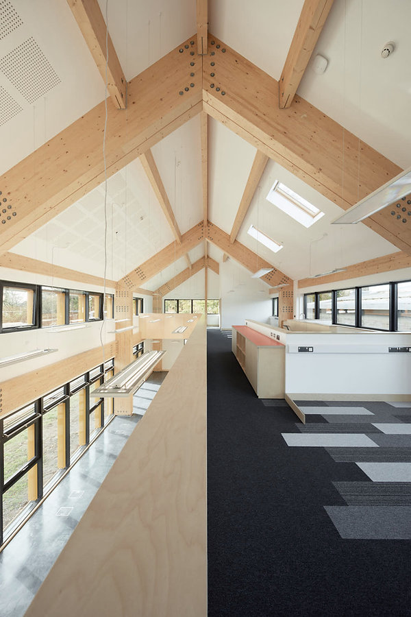Cryer & Coe, Rawlings Bristol, interior plywood, Glulam exposed, Warmley