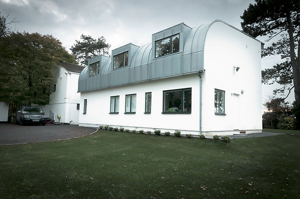 Cryer & Coe, white box, composite glazing, Ashton, Bristol, modern, clean contemporary design, zinc cladding