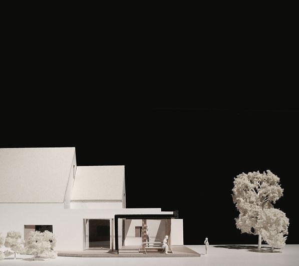 Rear extension, new build house, open plan kichen / dining, steel canopy, composite doors, sliding doors