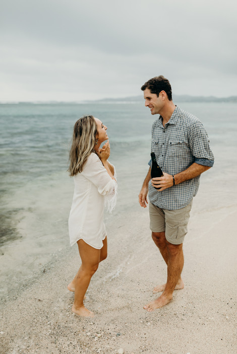 Tropical Storm Beach Surprise Proposal on St. Croix, US Virgin Islands Christiansted Frederiksted Palm Tree Jungle Caribbean Elopement What to Wear to Engagement Session Beach Wedding Dress St. Croix Wedding Photographer St. John Wedding St. Thomas Wedding Photos in the Rain Destination Wedding Engagement Photos Cruz Bay Travel Tropical Jungle Palm Fronds Island Elopement Wedding Hair and Makeup Island Caribbean Wedding Beach Couples Photoshoot