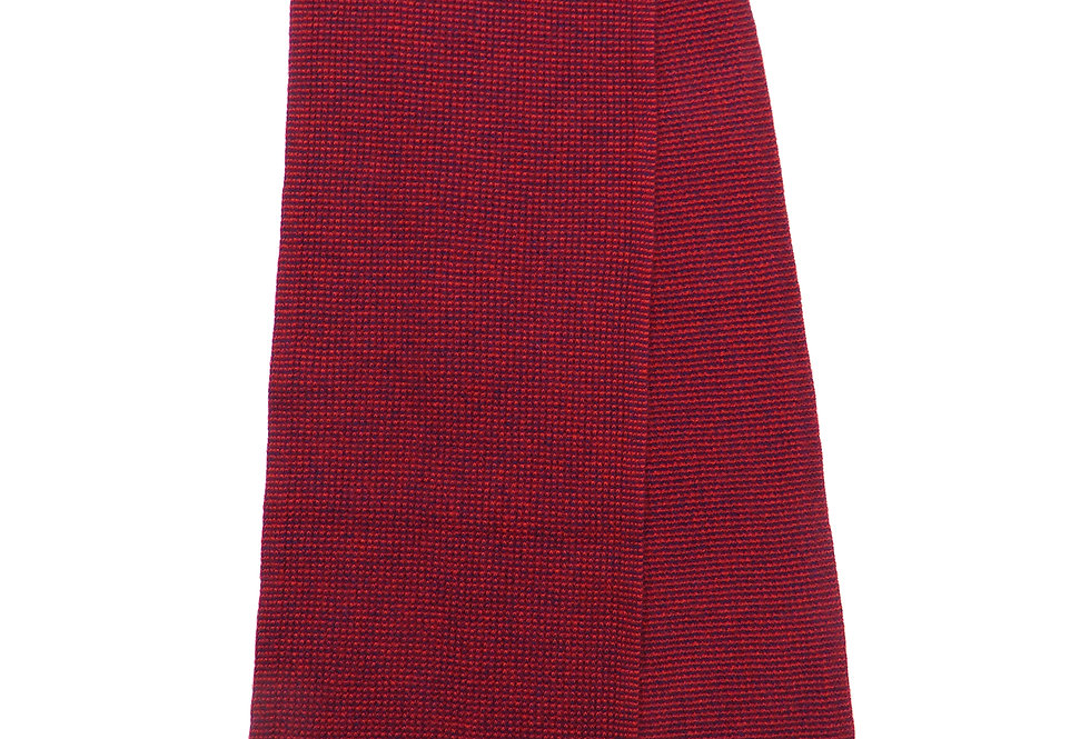 Spensa Cashmere Scarf Red -Navy