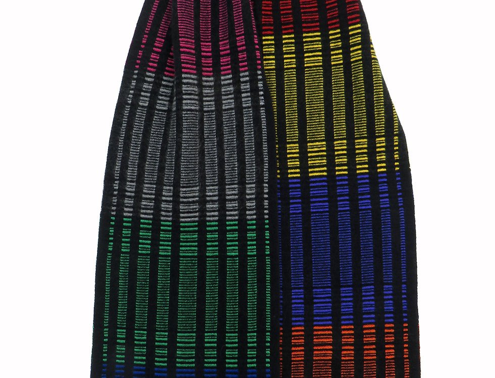 DNA Cashmere Scarf Rainbow - Black