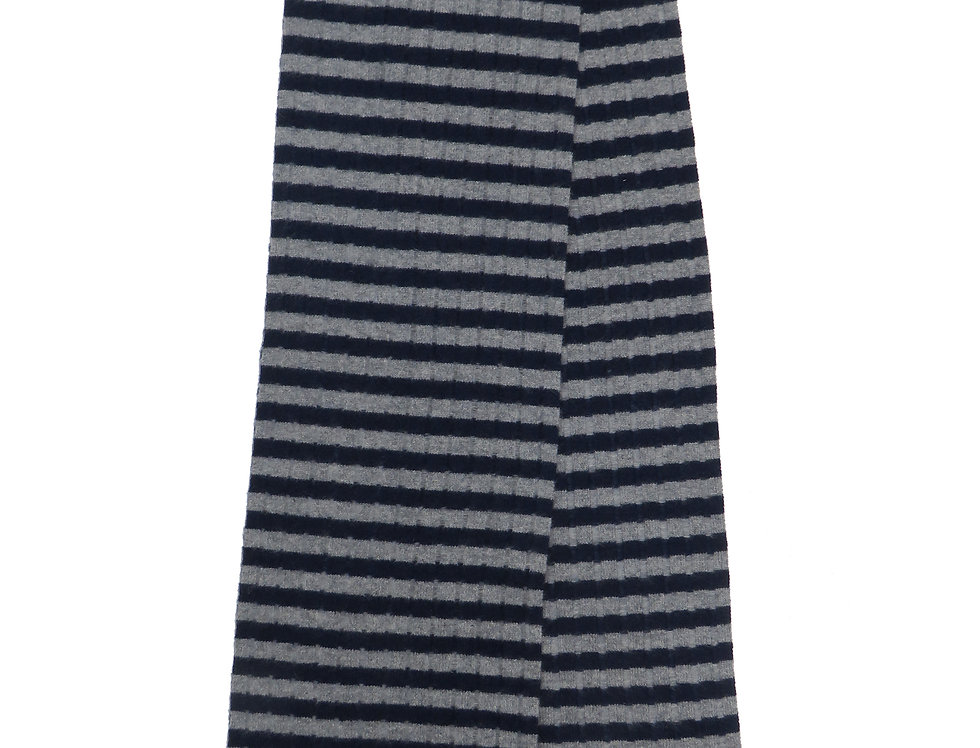 Rousay Cashmere scarf ~ Navy / Grey