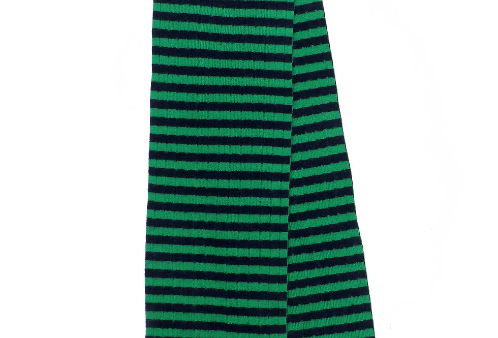 Rousay Cashmere scarf ~ Navy / Green