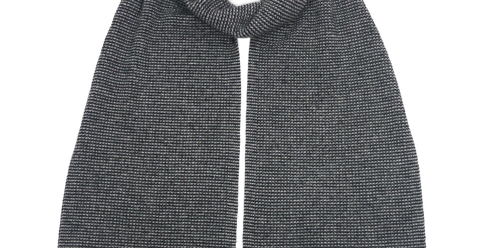 Spensa Cashmere Scarf Black/Grey