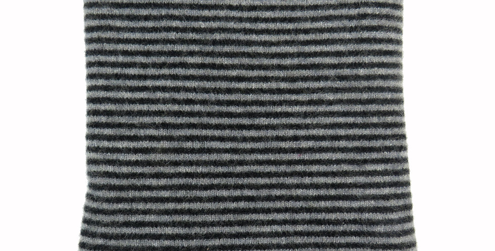 Cashmere Snood / Face Covering - Black & Grey