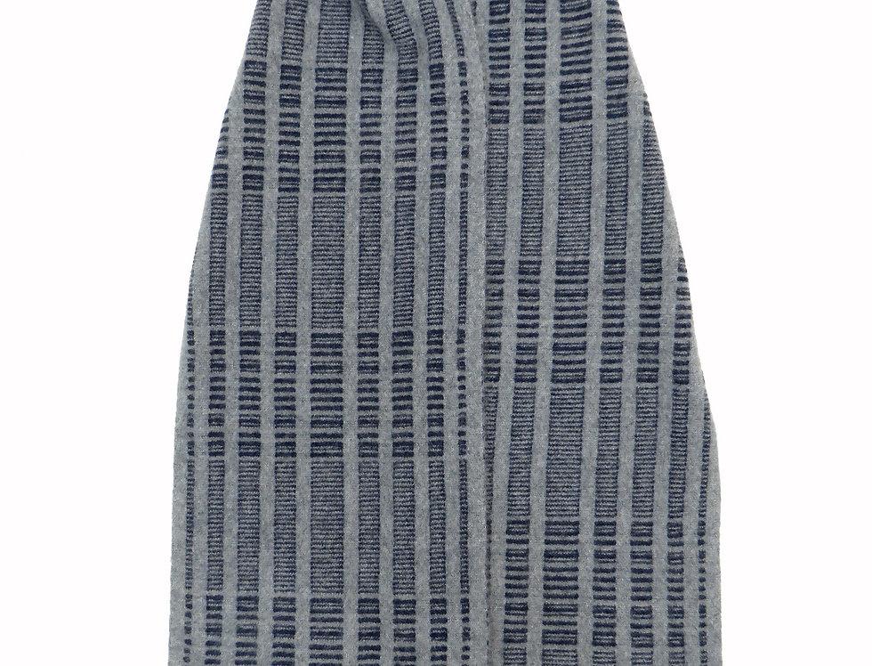 DNA Cashmere Scarf ~ Grey / Navy