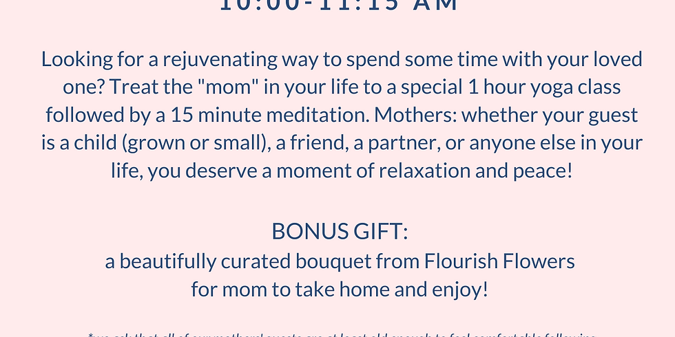 Mother's Day: Flows & Flowers