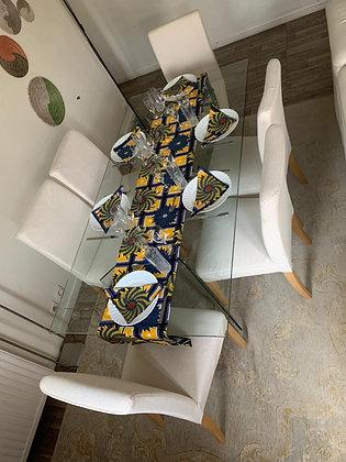 Chemin de table avec ses 6 serviettes