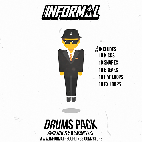 INFORMAL DRUM PACK (50 SAMPLES)