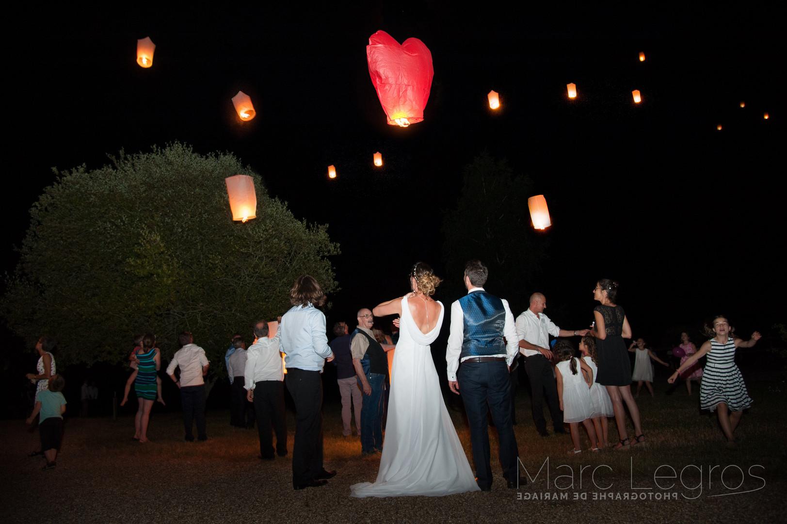 photographe Angers Mariage laché de lanterne