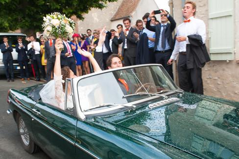 photographe angers mariage depart eglise