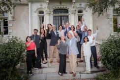 photo de famille au chateau Angers