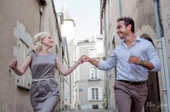 amoureux dans les rues d'Angers