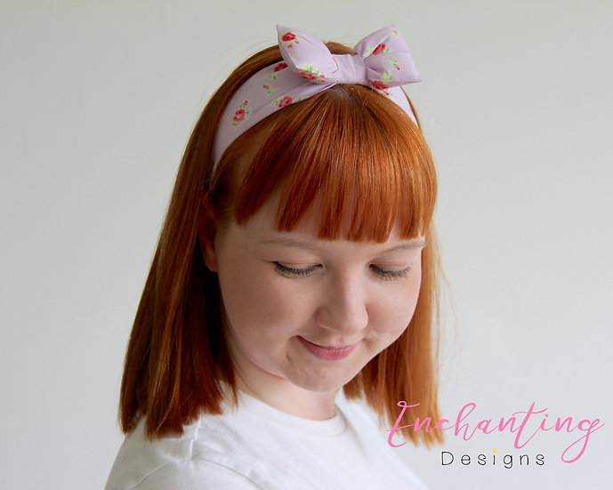 Lilac York Rose Retro Headband