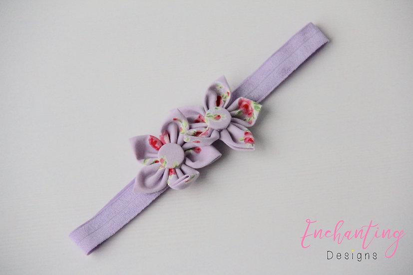 Lilac Rose Flower Headband