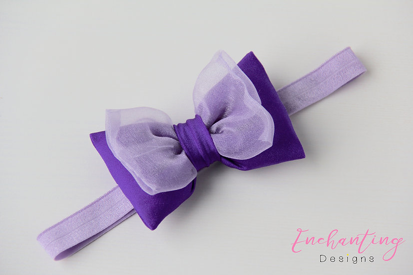 Purple Fairy Headband