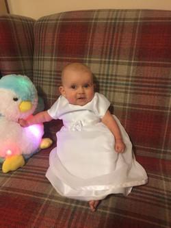 Satin Christening Dress