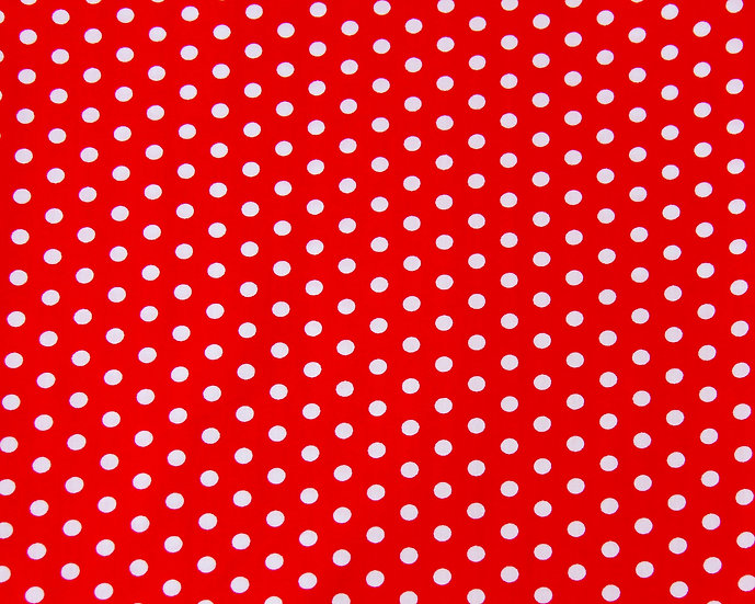 Red Polkadot Face Covering