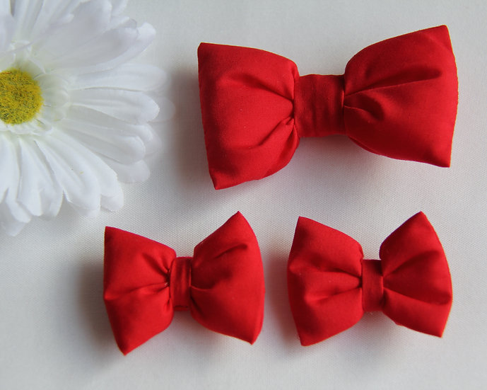 Red Bow Clips