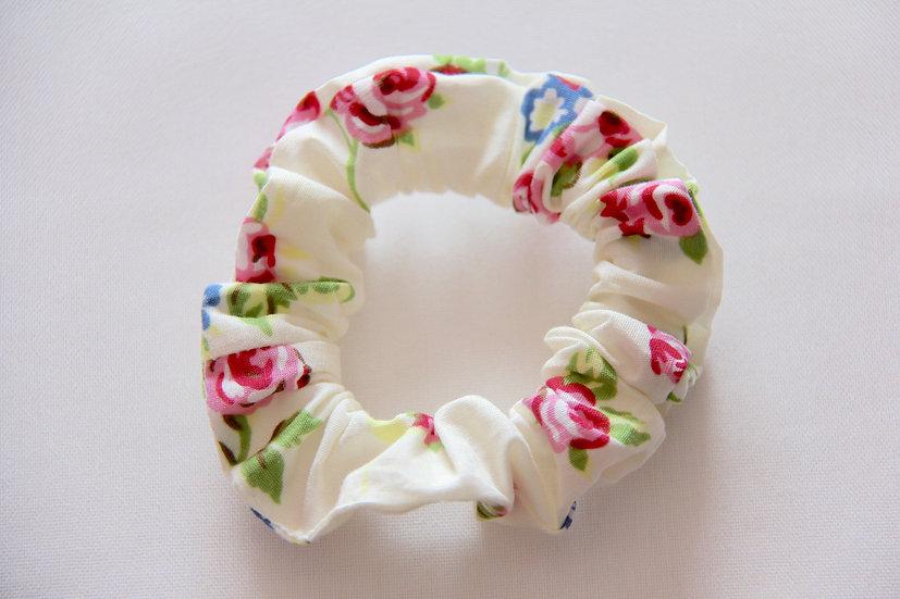 Cream Rose Scrunchie